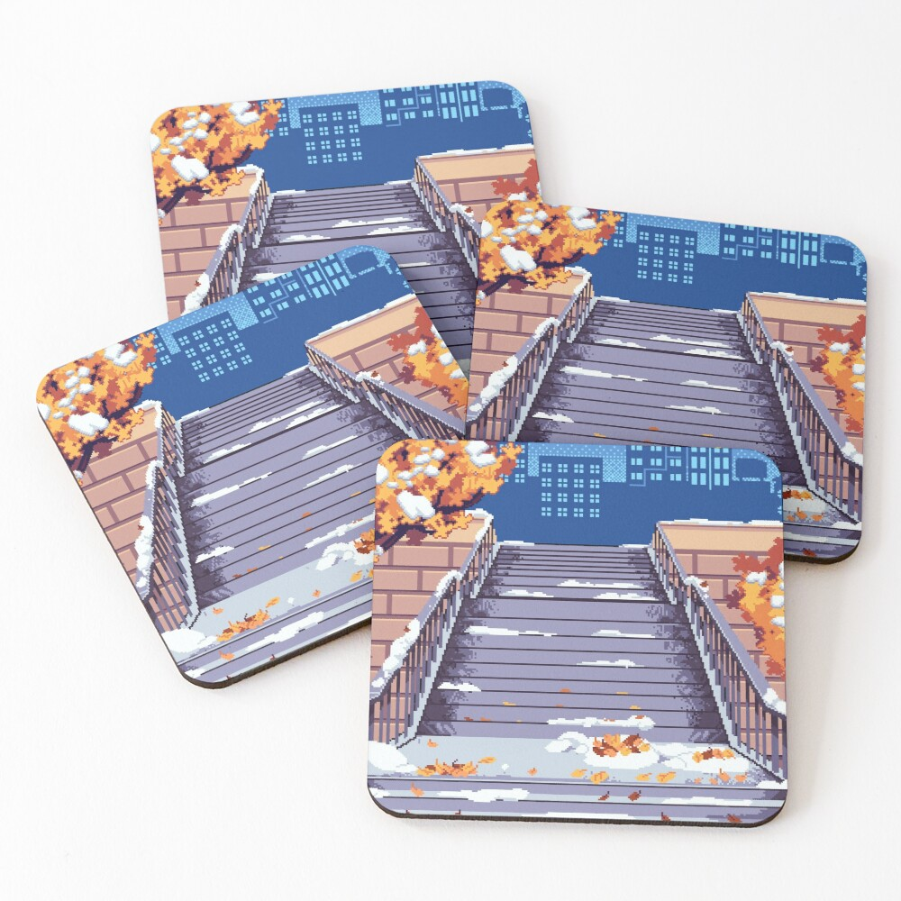 Morning Staircase Coasters (Set of 4)