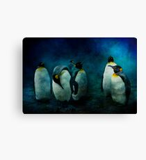 Cold Penguins Canvas Print