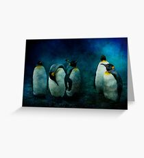 Cold Penguins Greeting Card