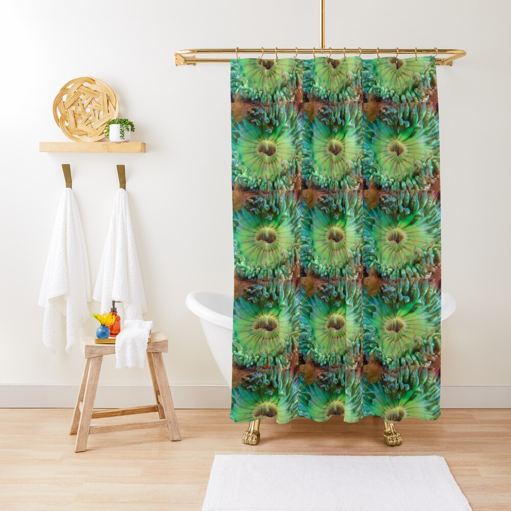 Aggregating Anemone Shower Curtain
