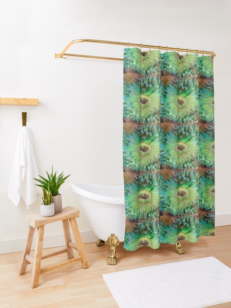 Alternate view of Aggregating Anemone Shower Curtain