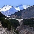 Columbia Icefield and Athabaska River by George Cousins