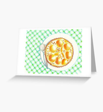 Apricot pie Greeting Card