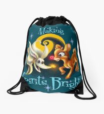 Making Spirits Bright Drawstring Bag