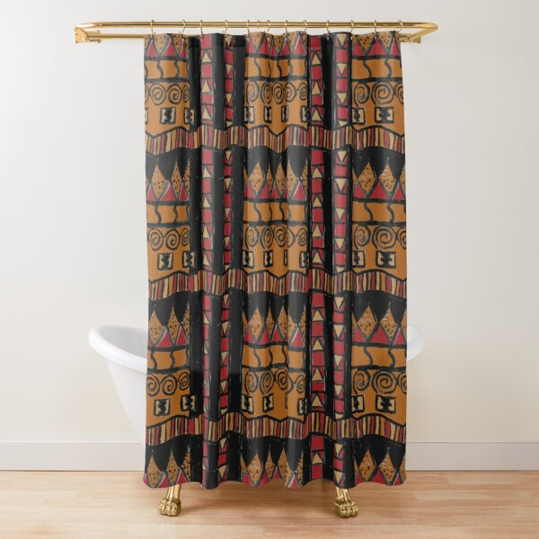 Mudcloth inspired Shower Curtain
