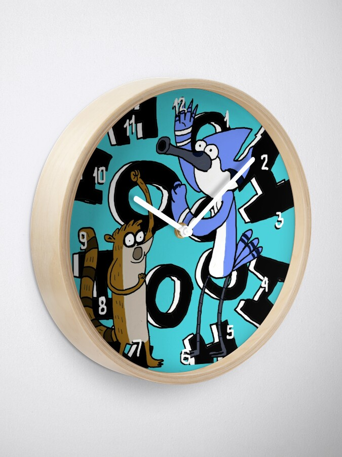 Alternate view of Ooooohh!!! Mordecai & Rigby Regular Show Clock