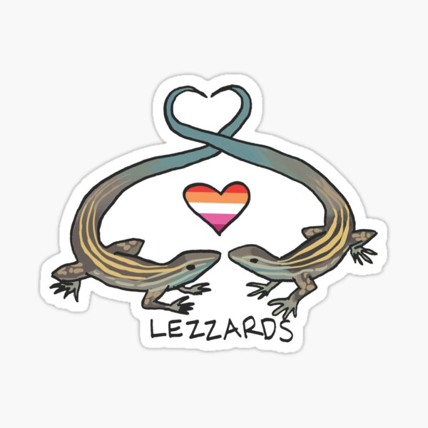 Lezzards - Queer Zoology Series Sticker