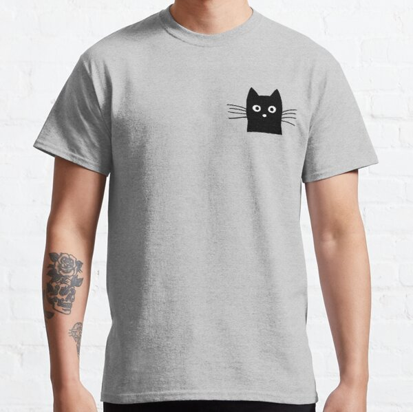 Black Cat Face Classic T-Shirt