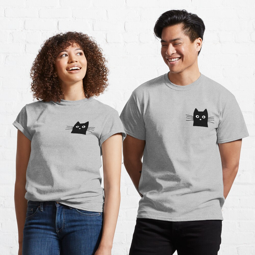 Black Cat Face Classic T-Shirt