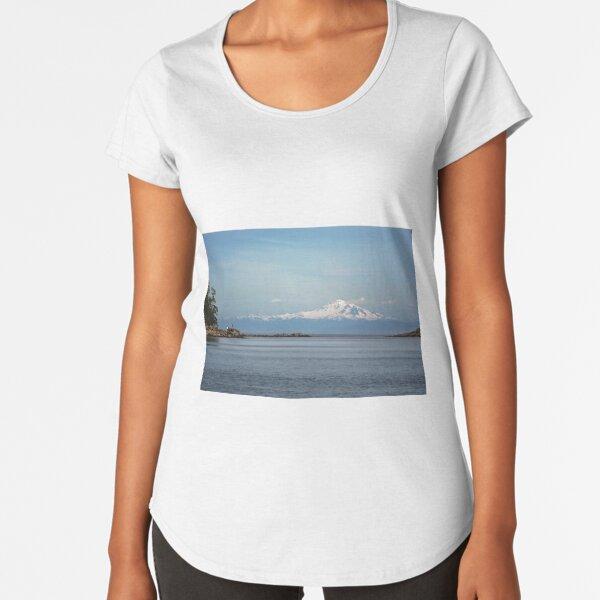 Mt Baker from Mayne Island Premium Scoop T-Shirt