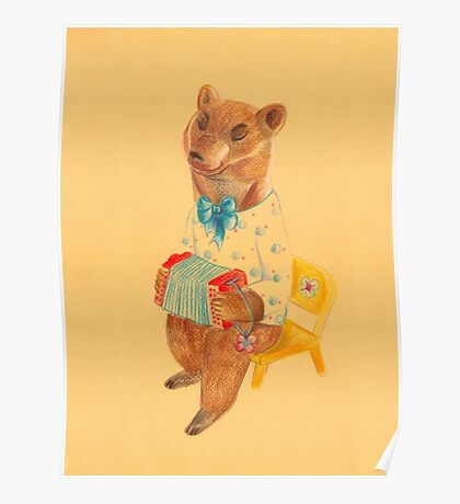 Bear with Charming Harmony Poster