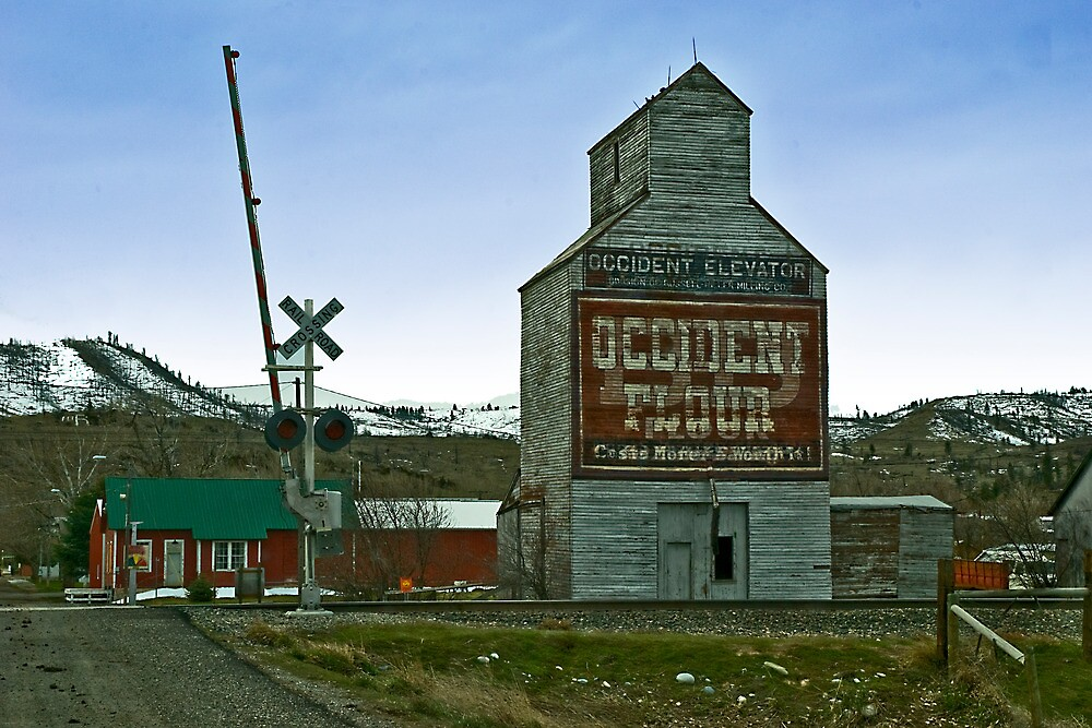 Occident Elevator, Reed Point, Montana by Bryan D. Spellman