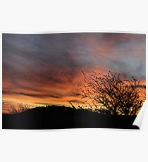 Hill End Sunset - The Close of Day! Poster