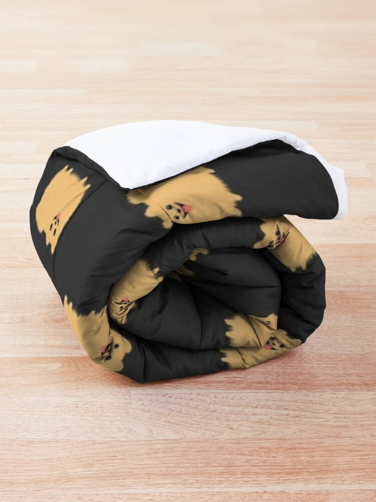Alternate view of Pomeranian | Cute Fluffy Cartoon Dog Comforter