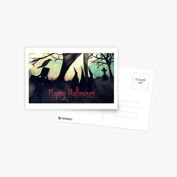 Three Witches Halloween Greetings Card Postcard
