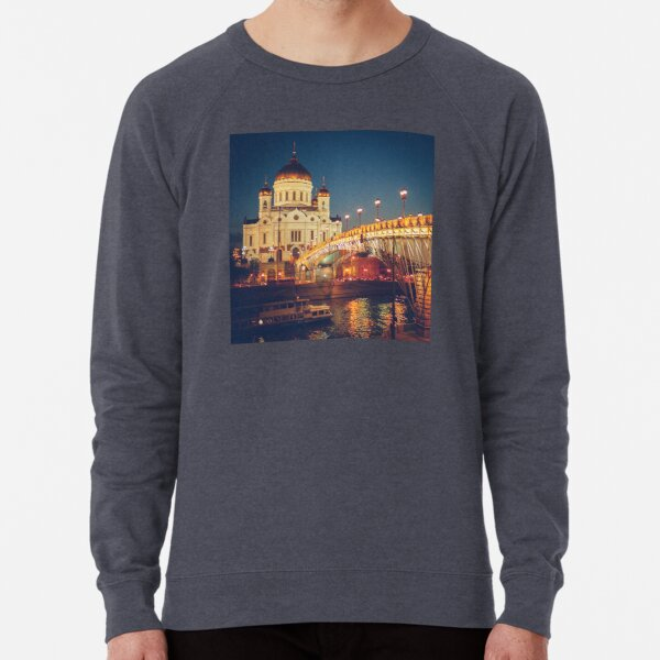 Cathedral of Christ the Savior in Moscow, Russia Lightweight Sweatshirt