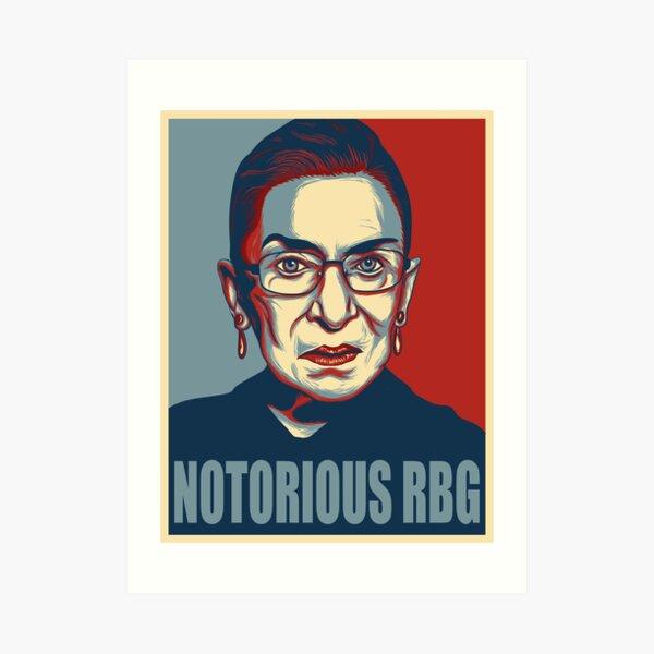 NOTORIOUS RBG ruth bader ginsburg Art Print