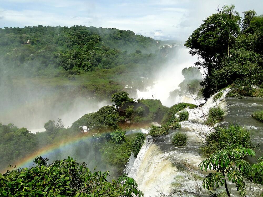Rainbow over Iguazu by Paige