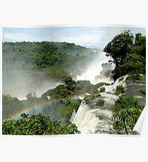 Rainbow over Iguazu Poster