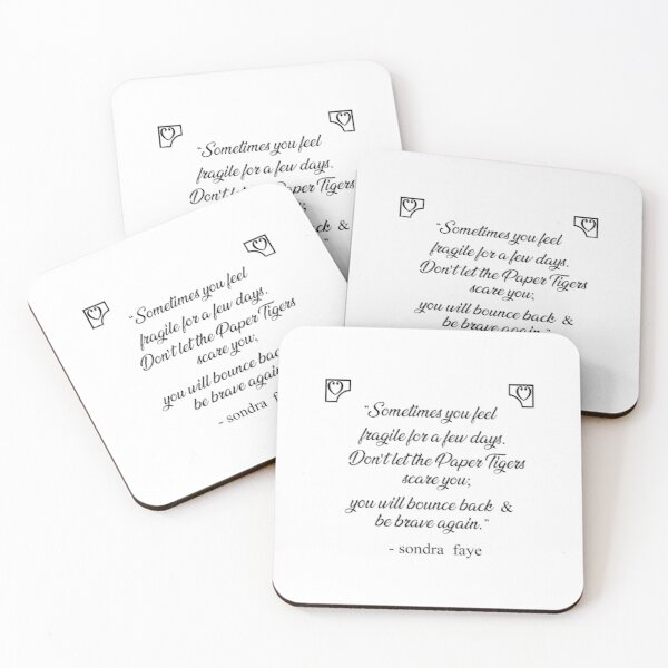 Soulmates Excerpt from a book of poetry by Sondra Faye Coasters (Set of 4)