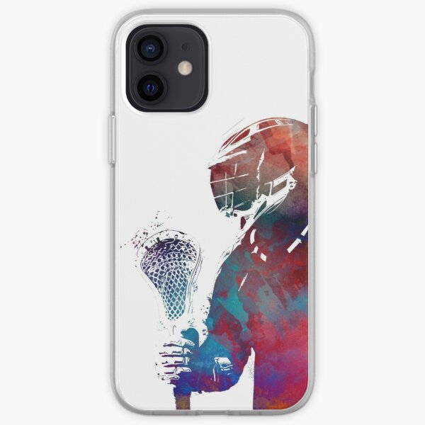 lacrosse sport art #lacrosse #sport iPhone Soft Case