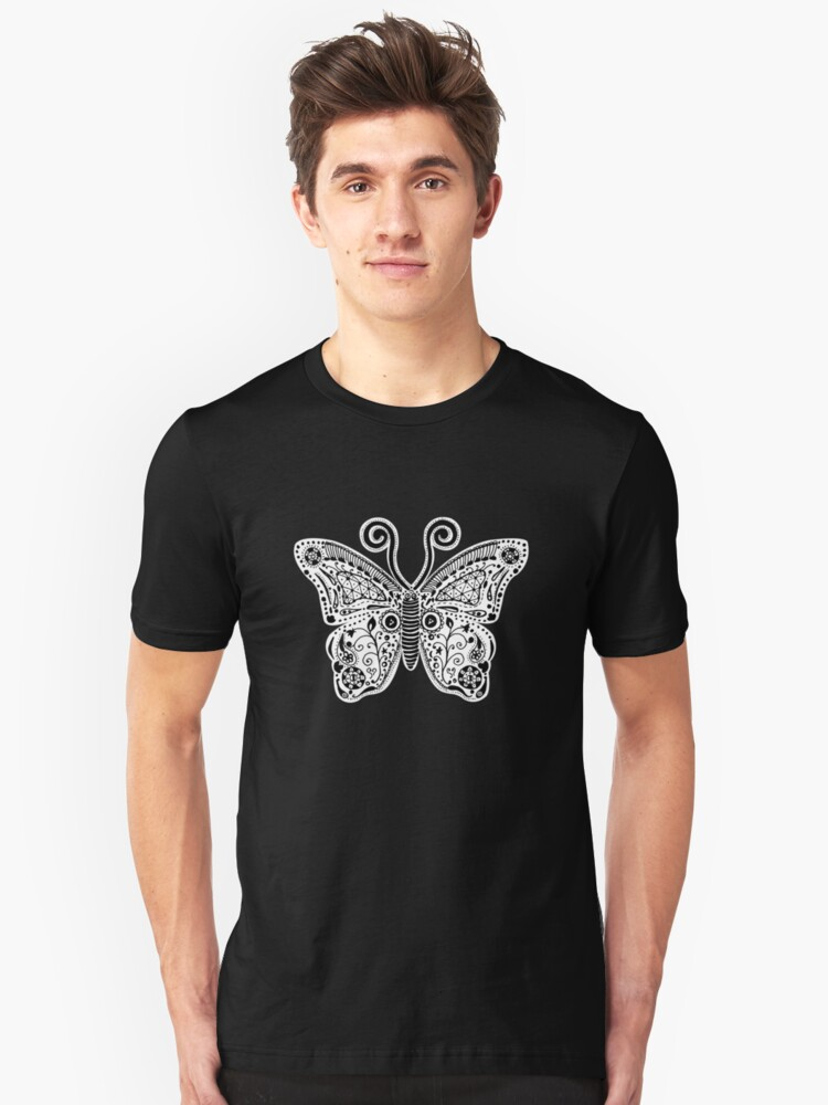 Butterfly Doodle Unisex T-Shirt Front