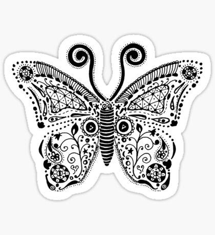 Butterfly Doodle Sticker