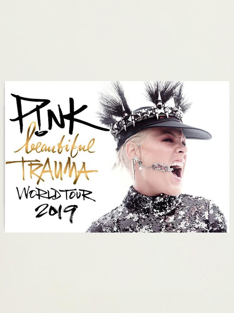 Alternate view of mnuk PINK world tour 2019 Beautiful Trauma Photographic Print