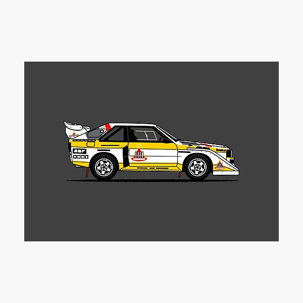 S1 Group B Classic Rally Car Photographic Print