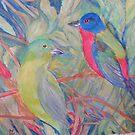 Painted Buntings by Lynda Earley