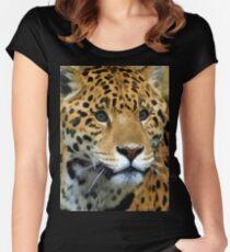 Jaguar Wild Cat  Women's Fitted Scoop T-Shirt