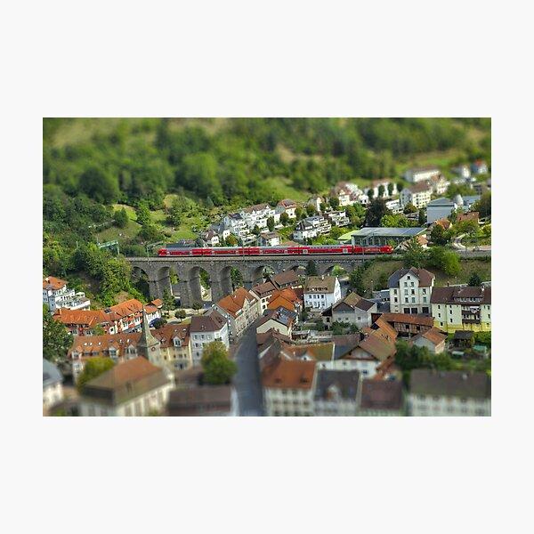 Trainscape Photographic Print
