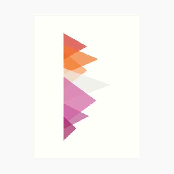 Triangles, Lesbian (orange) Art Print