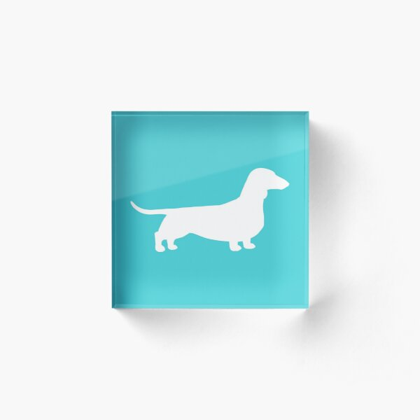 Dachshund Silhouette(s)   Wiener Dog   Smooth Coated Doxie Acrylic Block