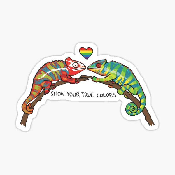 Show Your True Colors - Queer Zoology Series Sticker