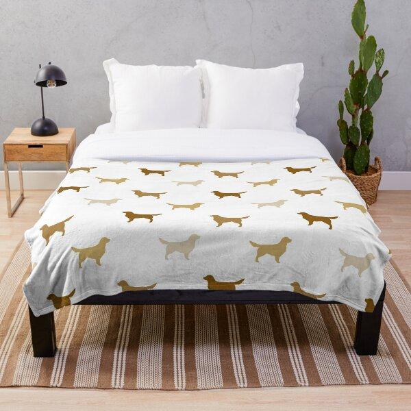 Golden Retriever Silhouette(s) Throw Blanket