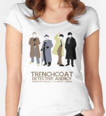 Trenchcoat Detective Agency Women's Fitted Scoop T-Shirt