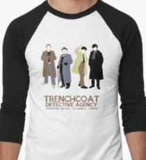 Trenchcoat Detective Agency Men's Baseball ¾ T-Shirt