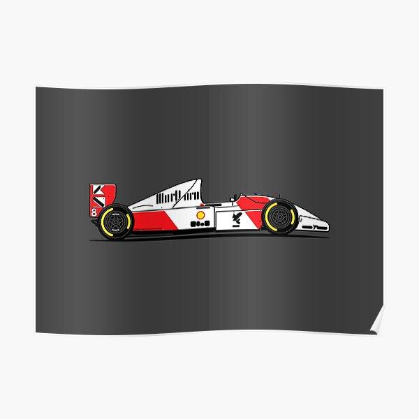 MP4/8 F1 Retro Race Car Poster