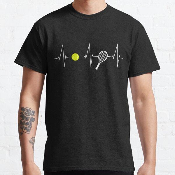 Tennis - tennis racket - tennis ball heartbeat heart rate - I love tennis Classic T-Shirt