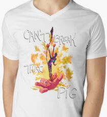 Can't Break That Pig Mens V-Neck T-Shirt