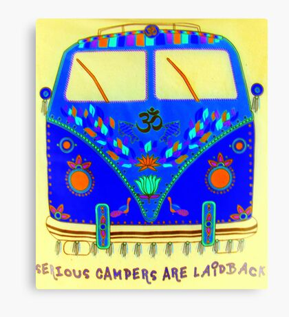 Serious Campers featured in Show us your Bloopers :) Canvas Print