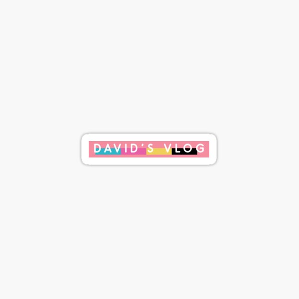 DAVID'S VLOG the beverly collection pink DAVID DOBRIK VLOG SQUAD Sticker