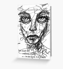 Scribble Face - CS Lewis Greeting Card