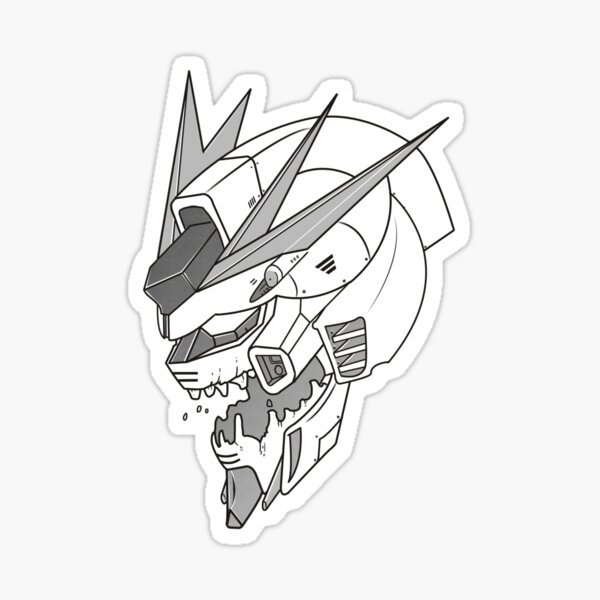 Gundam x Eva Pegatina