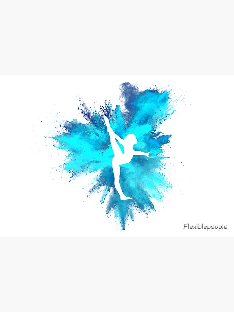Gymnast Silhouette - Blue Explosion  by Flexiblepeople