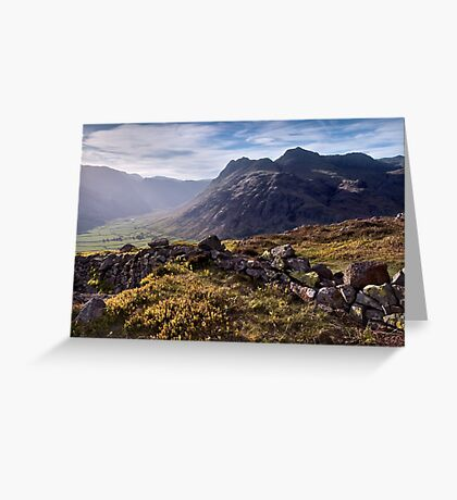 The Langdale Pikes from Side Pike Greeting Card