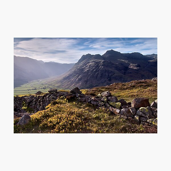 The Langdale Pikes from Side Pike Photographic Print