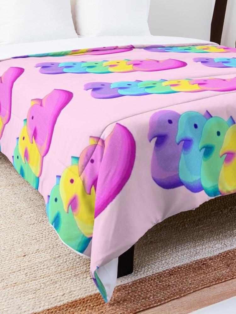 Alternate view of Rainbow Peeps Comforter