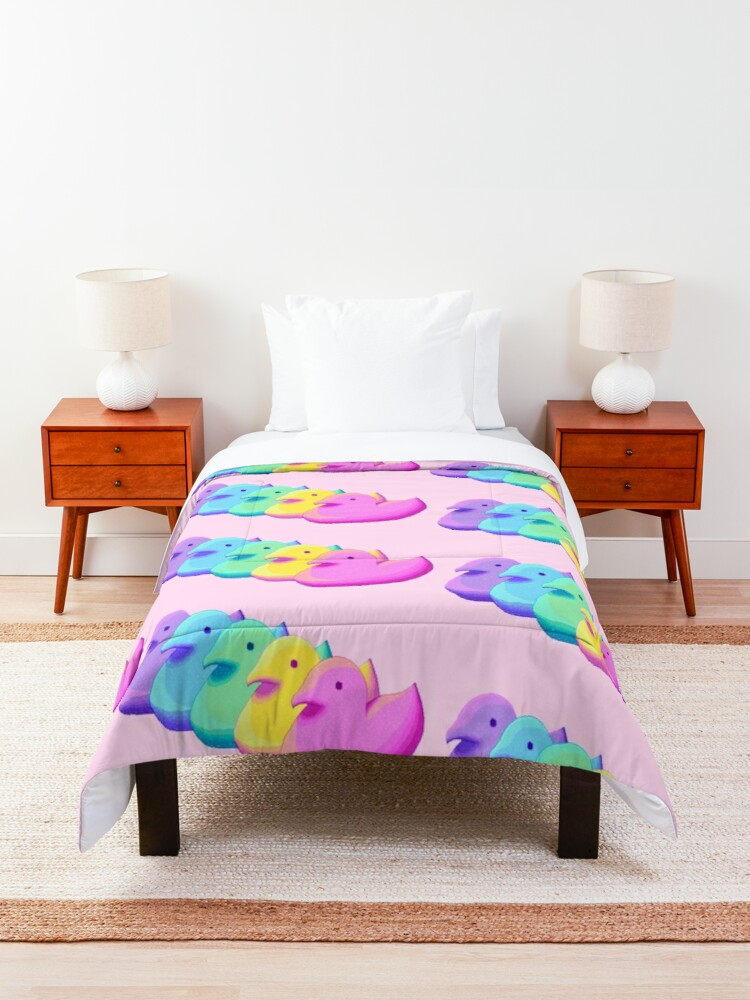Alternate view of Rainbow Peeps Comforter